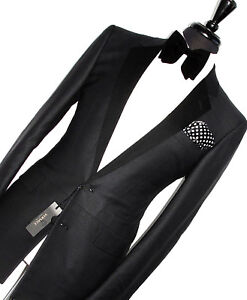 BNWT MENS VERSACE COUTURE TUXEDO DINNER TAILOR-MADE SLIM FIT SUIT 40R W34 X L32