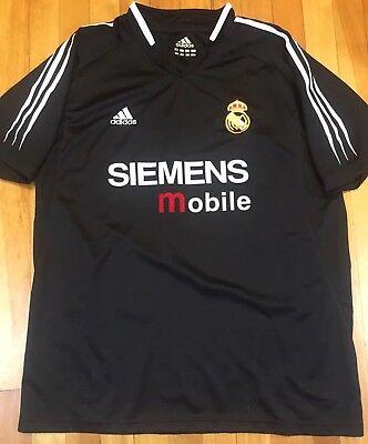 9510033b8 Throwback Real Madrid Adidas Jersey Black Siemens Mobile 2000s Large