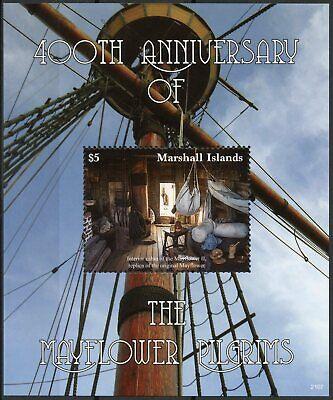 Marshall Islands 2021 MNH Ships Stamps Mayflower Pilgrims 400th Anniv 1v S/S