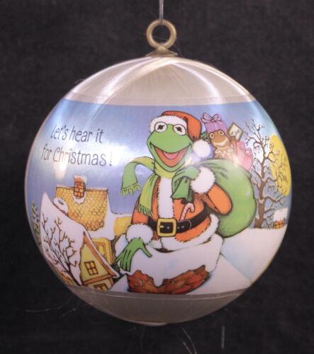 Vintage 1981 Hallmark Kermit & Miss Piggy Satin Christmas Ornament MUPPETS