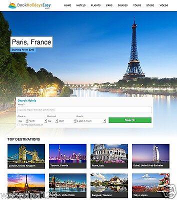 Established Wordpress Based Travel Website Script   100  Automated   Make Money