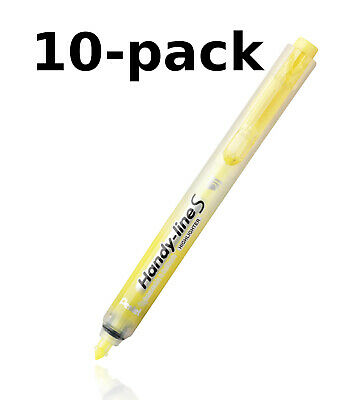 New Pentel 10-pack Handy-line S Retractable Permanent Yellow Highlighter Nxs15-g