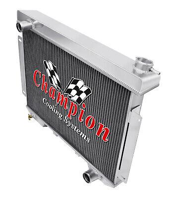 3 Row Discount Champion Radiator for 1957 Ford Custom L6 Engine