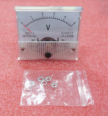 1pcs New Dc 5v Analog Panel Volt Voltage Meter Voltmeter Gauge 85c1 0-5v Cheap