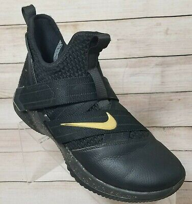 Nike Lebron Soldier XII Basketball Men's Shoes Size 8.5 Black & Gold AR6333-991