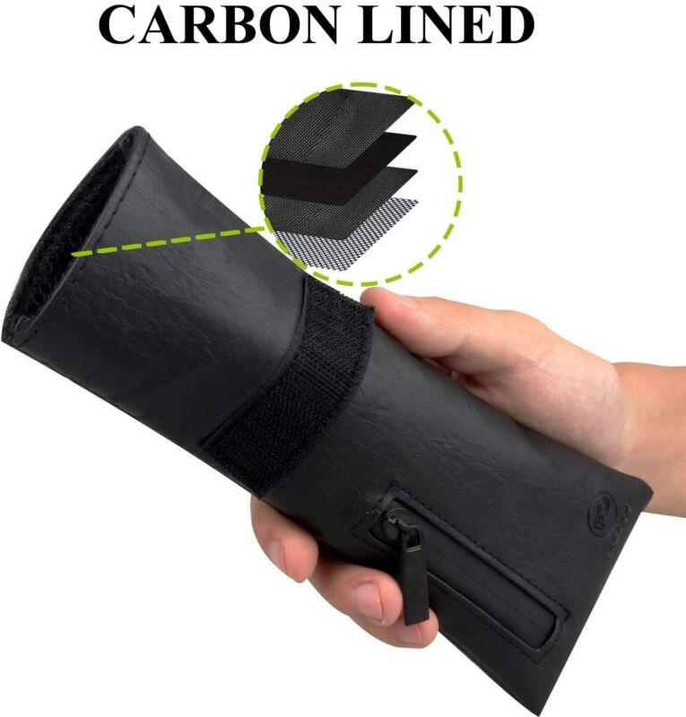 Travel Smell Proof Bag arbon Lined Odor Proof Bag Stash Storage Pouch Pocket USA