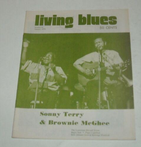 1973 LIVING BLUES MAGAZINE # 13 SONNY TERRY BROWNIE McGHEE PAPA LIGHTFOOT