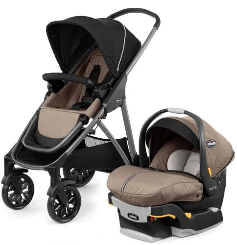 Chicco Corso Modular Travel System Stroller with KeyFit 30 Zip CarSeat Hazelwood