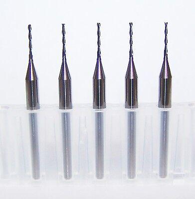 5 0.80mm .0315 2 Flute Micro Carbide Endmills Kyocera Extra Long Flute