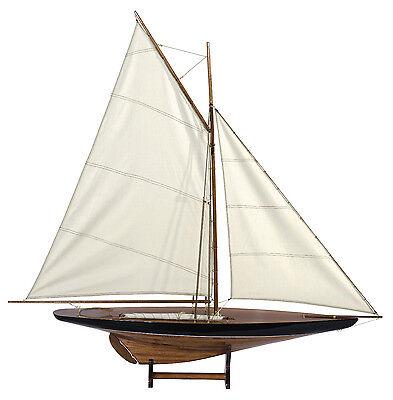 Blue & Green 1901 Sail Pond Yacht Model 43