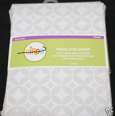 Circo Fitted Crib Sheet gray geo toddler bed sheet cotton new for sale  USA