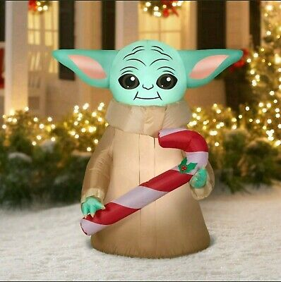 Star Wars The Mandalorian The Child Baby Yoda Airblown Inflatable 4.5FT