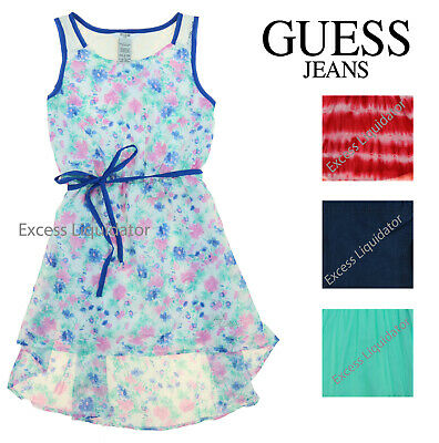 Girls Denim Dresses (Guess Jeans Kids Girls Patterned, Denim, and Lace)