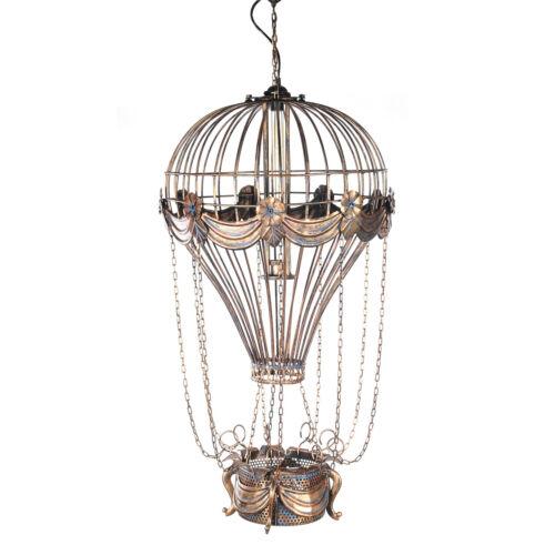 "Hanging Lamp Hot Air Balloon Metal Pendant Light 41"" Single Bulb Aviation Decor"