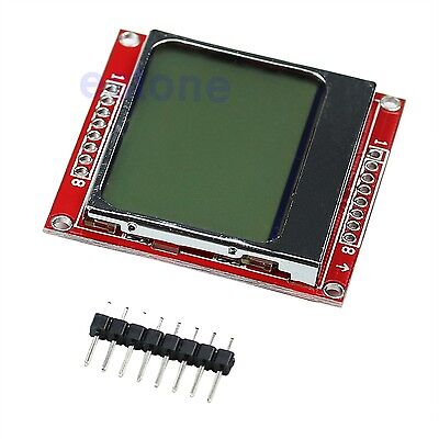 8448 84x48 Lcd Module White Backlight Adapter Pcb For Nokia 5110 Arduino Hot
