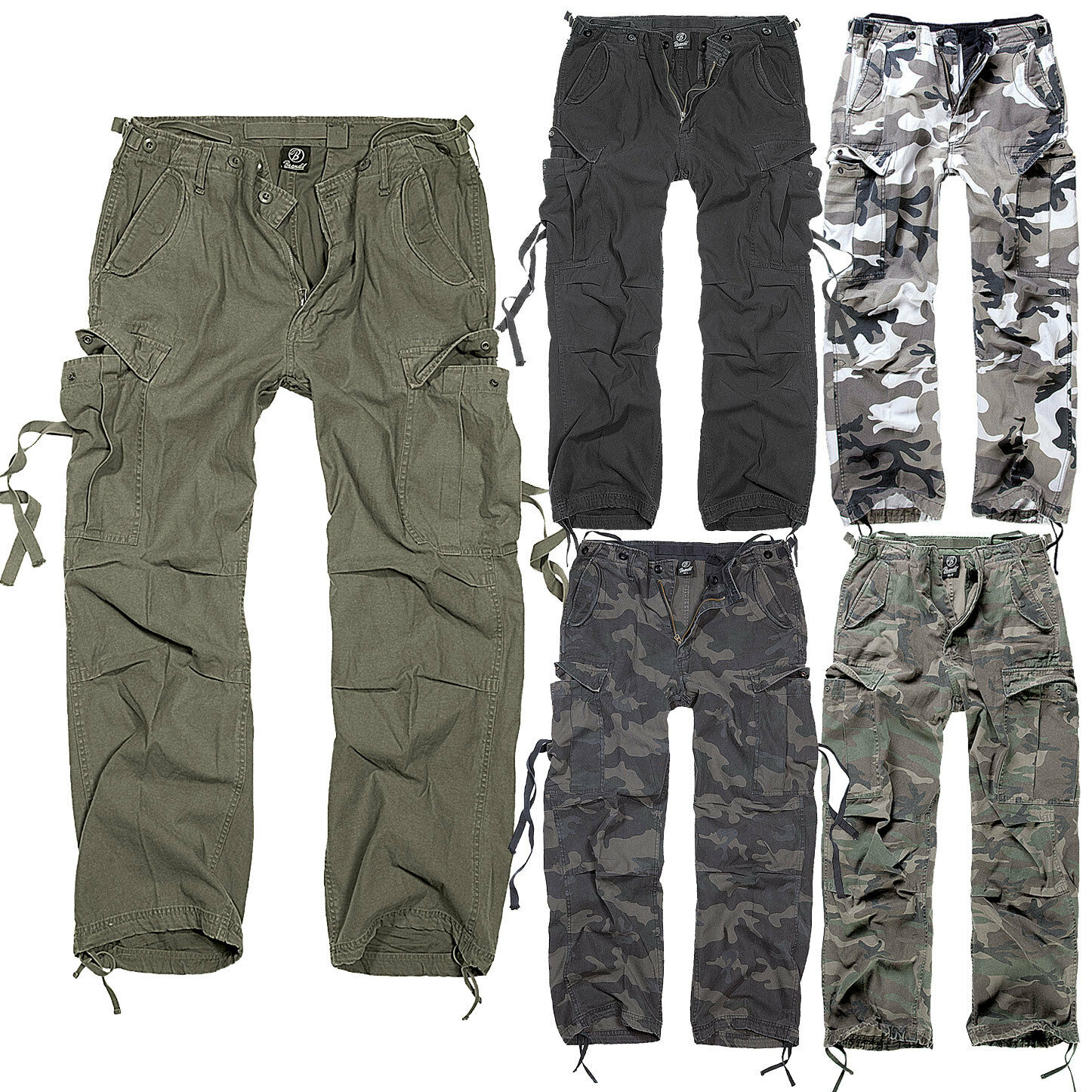 BRANDIT M65 CARGO TROUSER Vintage Hose viele Farben, S-XXL, Army Pants Cargohose