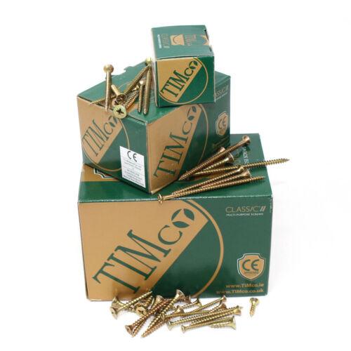 1800 ASSORTED TIMco MULTI PURPOSE ZINC YELLOW SCREWS POZI WOOD SCREW TRADE PACK