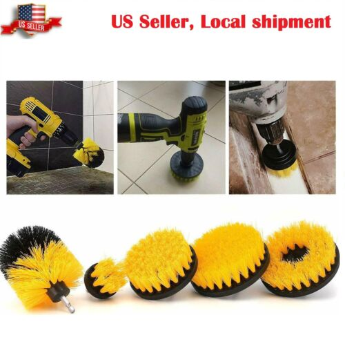 Drill Brush Set Power Scrubber Cleaning Kit Attachments 5 Pieces All Purpose