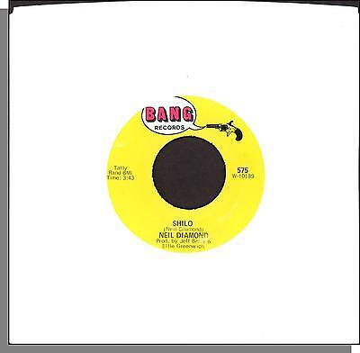 "Neil Diamond - Shilo + La Bamba - 7"" Bang 45 RPM Single! (#575, Bell Sound)"