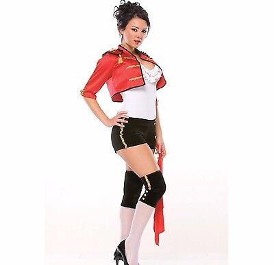 Womens Matador Costume Sexy Bullfighter Halloween Outfit Bull Fighter Cape