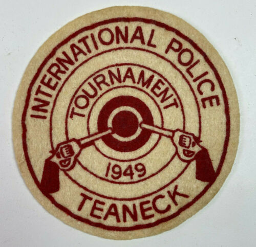 Teaneck Police International Pistol Tournament 1949 New Jersey Patch (B3)