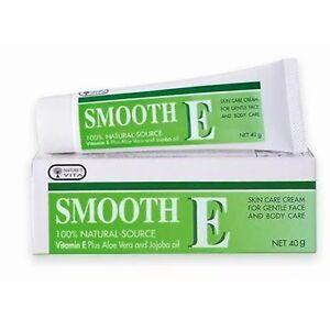 40 G SMOOTH E Cream VITAMIN E Plus ALOE VERA 100% NATURAL Source Reduce Scar