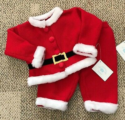 Heartstrings Baby Sweater Santa Claus Outfit Infant Size - Baby Santa Claus Outfit