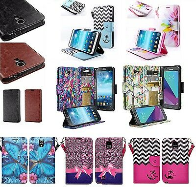 Samsung Galaxy Mega 2 Design Wallet Credit Card Flip Phone Case Cover Accessory