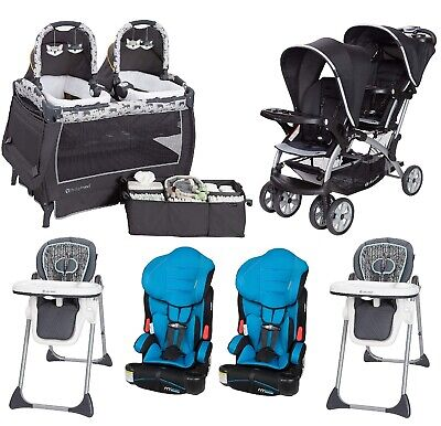Best Double Stroller Set for 2019 Baby Boys Twins Nursery Center Car Seat