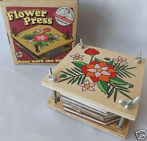 Rustic Wooden Flower Press Vintage Style Retro Traditional Flower Press Kit NEW
