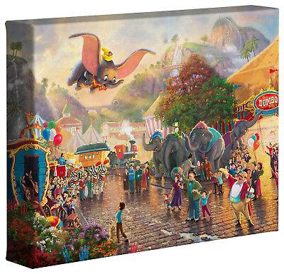 Thomas Kinkade Studios Dumbo 8 x 10 Gallery Wrapped Canvas Disney's Dumbo