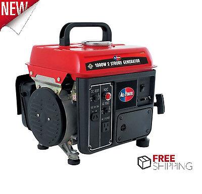 Camping Gas Powered Portable Generator Lightweight Quiet Home Inverter 1000 Watt