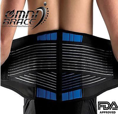 NEOPRENE DELUXE BELT DOUBLE PULL Lumbar Lower Back Support Brace-Size 2XL-6XL