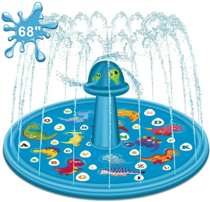 Splash Pad Larger Sprinkler Wading Swimming Pool Inflatable Water Toys for Kids