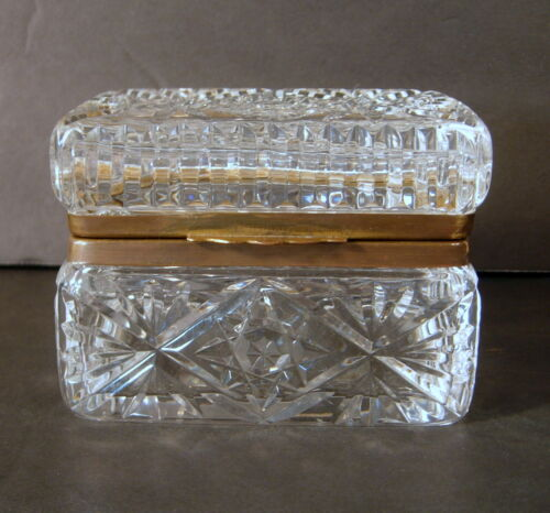Antique French Cut Glass Dresser Box