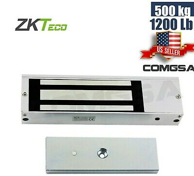 Magnetic Lock 1200 Lb Maglock 500 Kg For Access Control Door Entry Zkteco Usa