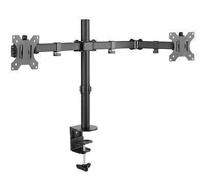 Dual Monitor Schwenkarm Tisch Halterung Doppel Halter 2x 8KG Office-414 Dual Monitor Arm