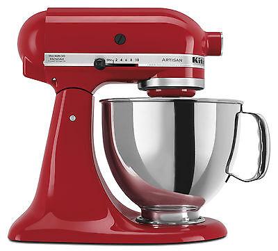 KitchenAid RRK150ER Empire Red Artisan 5-quart Tilt-head Mixer (Refurbished)
