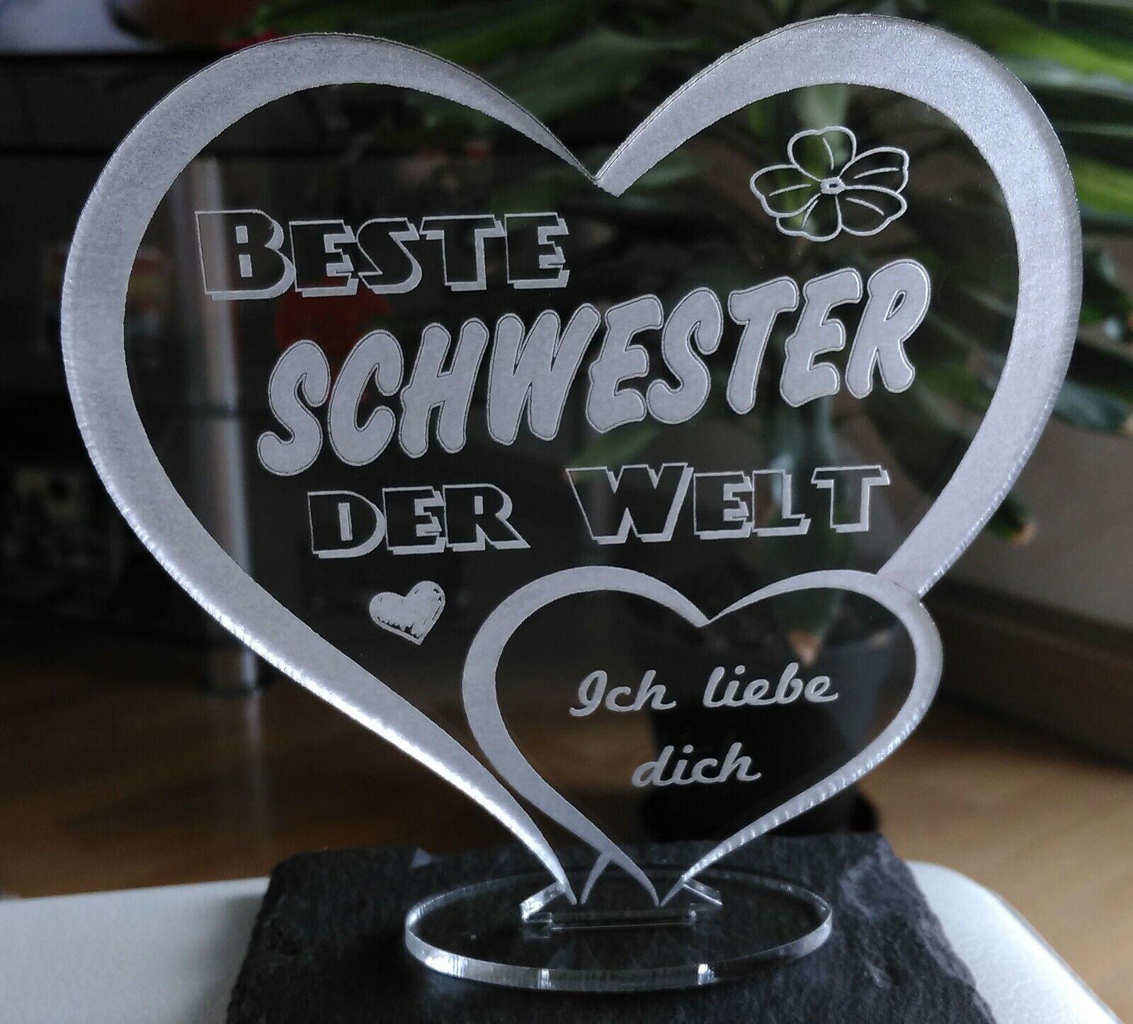 Beste Schwester Muttertag Geschenk Geburtstag Liebe Led Licht Ebay