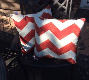 Two Threshold outdoor pillows