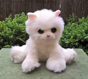Fluffy White Russ Berrie Cat HANS Plush Kitten Animal Golden Grove Tea Tree Gully Area Preview