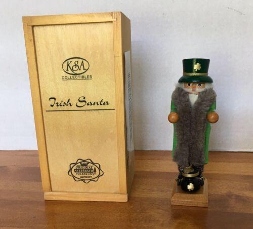 "Steinbach Irish Santa 6"" Mini Nutcracker Limited Edition - Germany. LE"