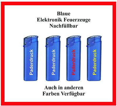250 Stück TOM nachfüllbare blaue Elektronik Feuerzeuge mit Ihrer Werbung
