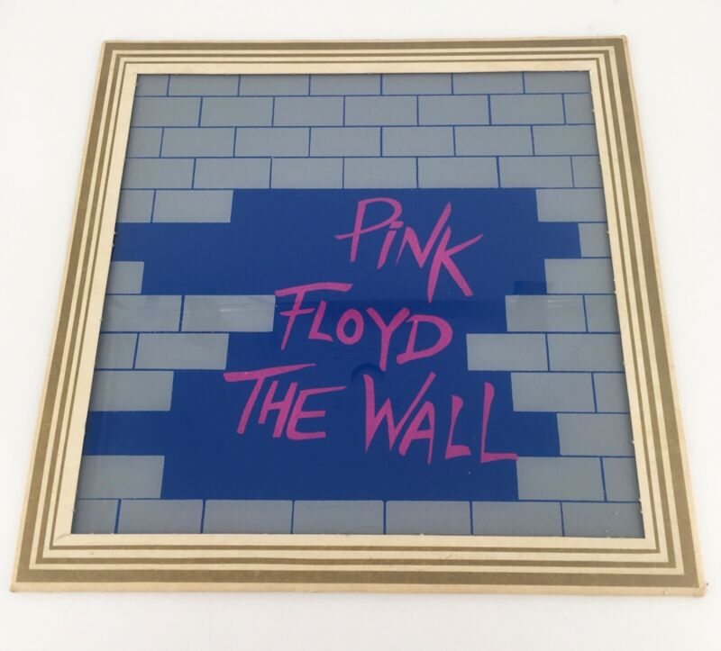 Vintage 1980s Pink Floyd The Wall 12x12 Carnival prize Glass