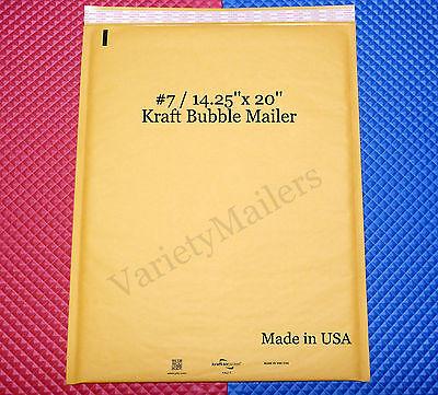 6 Large Kraft Bubble Envelopes 7 14.25x20 Padded Shipping Mailers