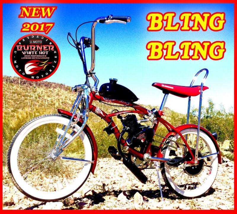 "2-STROKE 66CC/80CC MOTORIZED BIKE KIT WITH 20"" LOW RIDER RETRO BICYCLE"