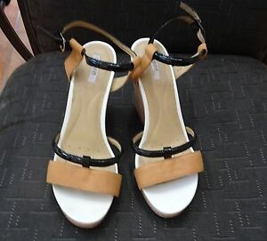 LADIES 'GEOX' WEDGE HEEL SANDALS - SIZE 37.5 Nerang Gold Coast West Preview