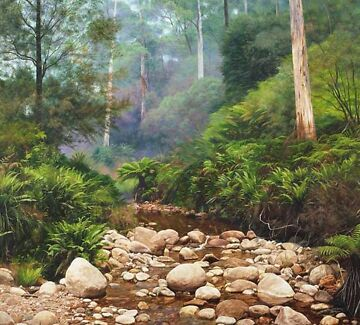 Wanted: Large, beautifully framed limited edition print titled - Crystal Creek