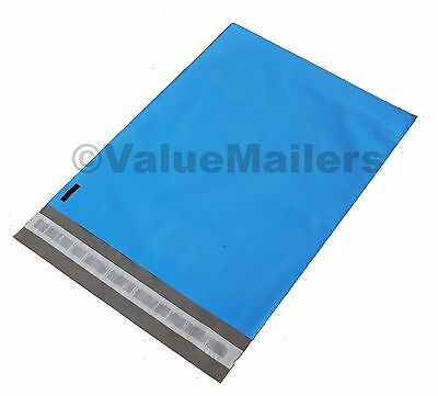 200 10x13 Blue 2.5 Mil Poly Mailers Envelopes Couture Boutique Bags 100 Recycle