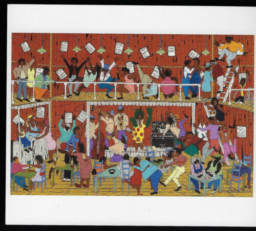 Folk Art By Hambone:Mother Blues Juke Joint #175c
